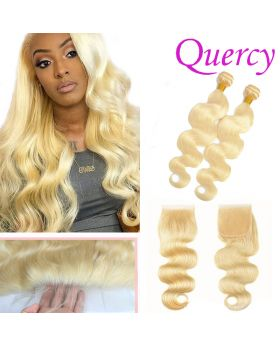 #613 10A 2 bundles with lace closure 4*4inch body wave
