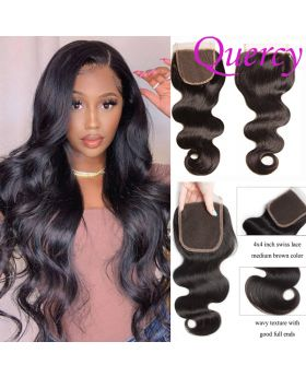 10A lace closure 4*4inch body wave