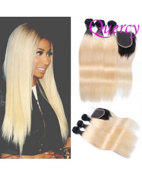 T1B/613 10A 3 bundles with lace closure straight