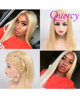 Blonde #613 lace front wig straight 150% density