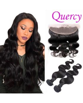 8A 2 bundles with lace frontal 13*4inch body wave