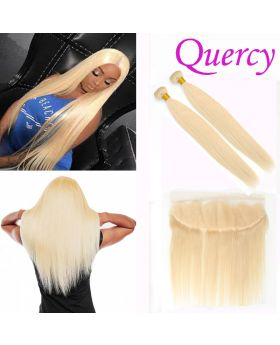 #613 10A 2 bundles with lace frontal 13*4 straight