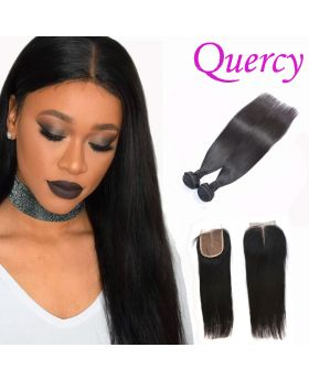9A 2 bundles with lace closure 4*4inch straight