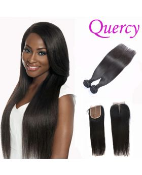 10A 2 bundles with lace closure 4*4inch straight