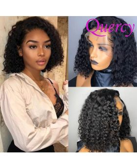 13*4 lace front bob wig curly 180% density