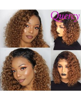 T1B/30 13*4 lace front bob wig curly