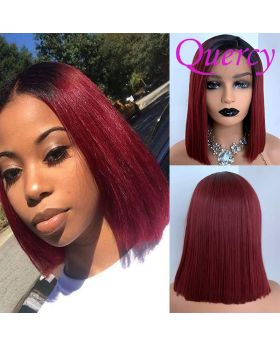 #T1b/99j 13*4 lace front Bob wig straight