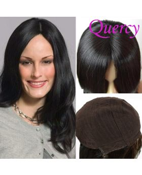 Jewish wig straight natural black color