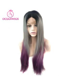 Synthetic lace front wig SF-009
