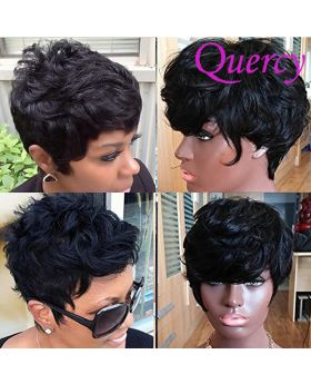 Machine made short wig