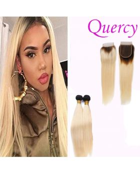 T1B/613 10A 2 bundles with lace closure straight