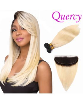 T1B/613 10A 2 bundles with lace frontal 13*4 straight