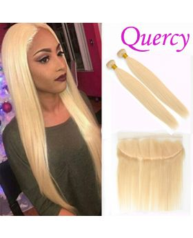 #613 7A 2 bundles with lace frontal 13*4 straight