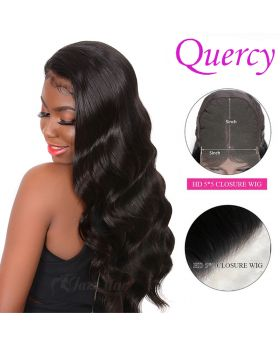 HD 5*5 lace closure wig 150% body wave