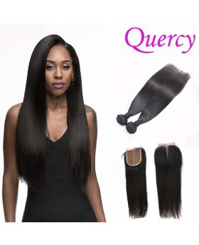 8A 2 bundles with lace closure 4*4inch straight