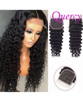 9A lace closure 4*4inch deep wave