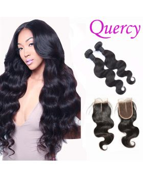 8A 2 bundles with lace closure 4*4inch body wave