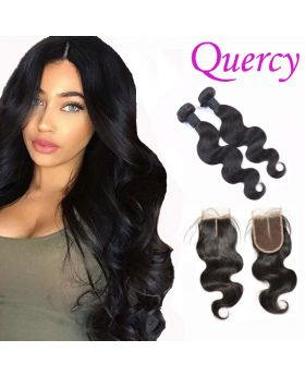 10A 2 bundles with lace closure 4*4inch body wave
