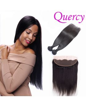 10A 2 bundles with lace frontal 13*4inch straight
