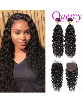 9A 2 bundles with lace closure 4*4inch water wave