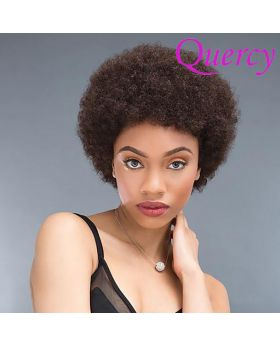 Machine made Afro short wig