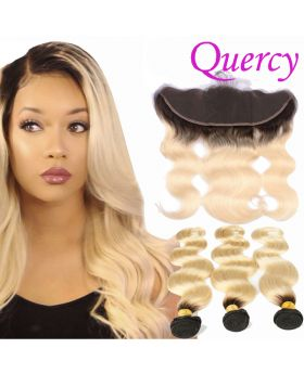 T1B/613 10A 3 bundles with lace frontal 13*4inch body wave