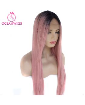 Synthetic lace front wig SF-001