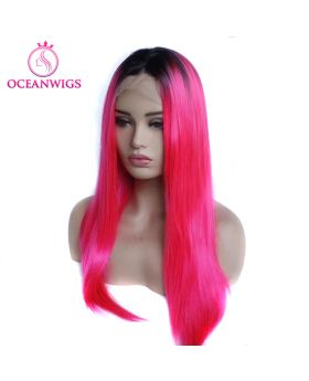 Synthetic lace front wig SF-003